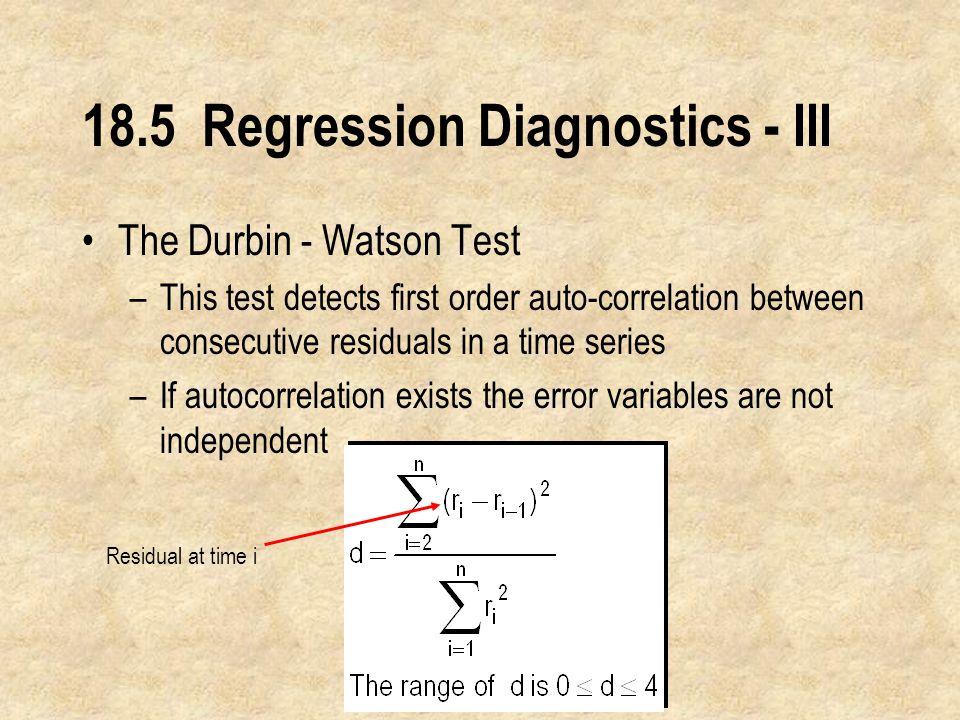 18.5 Regression Diagnostics - III