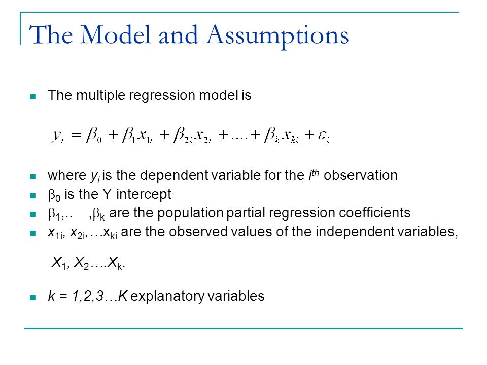 The Model and Assumptions