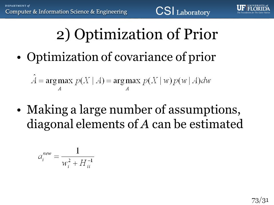 2) Optimization of Prior