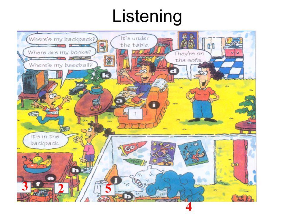Listening 3 2 5 4