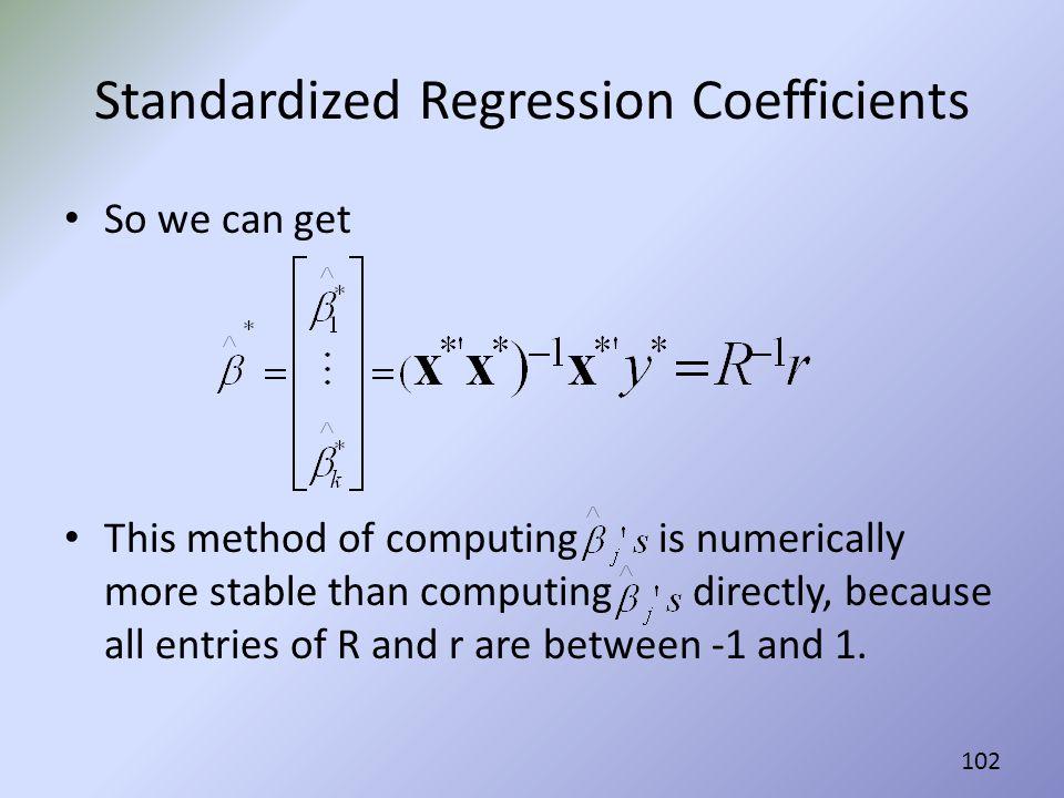 Standardized Regression Coefficients