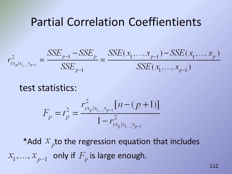 Partial Correlation Coeffientients