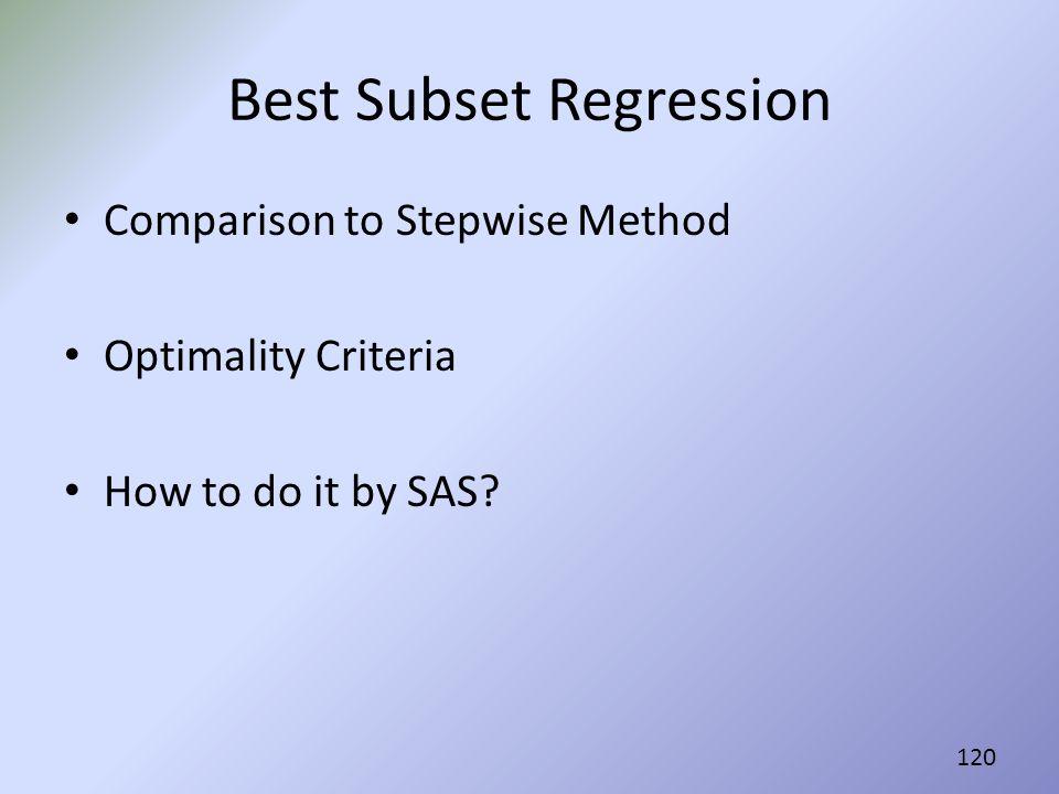Best Subset Regression