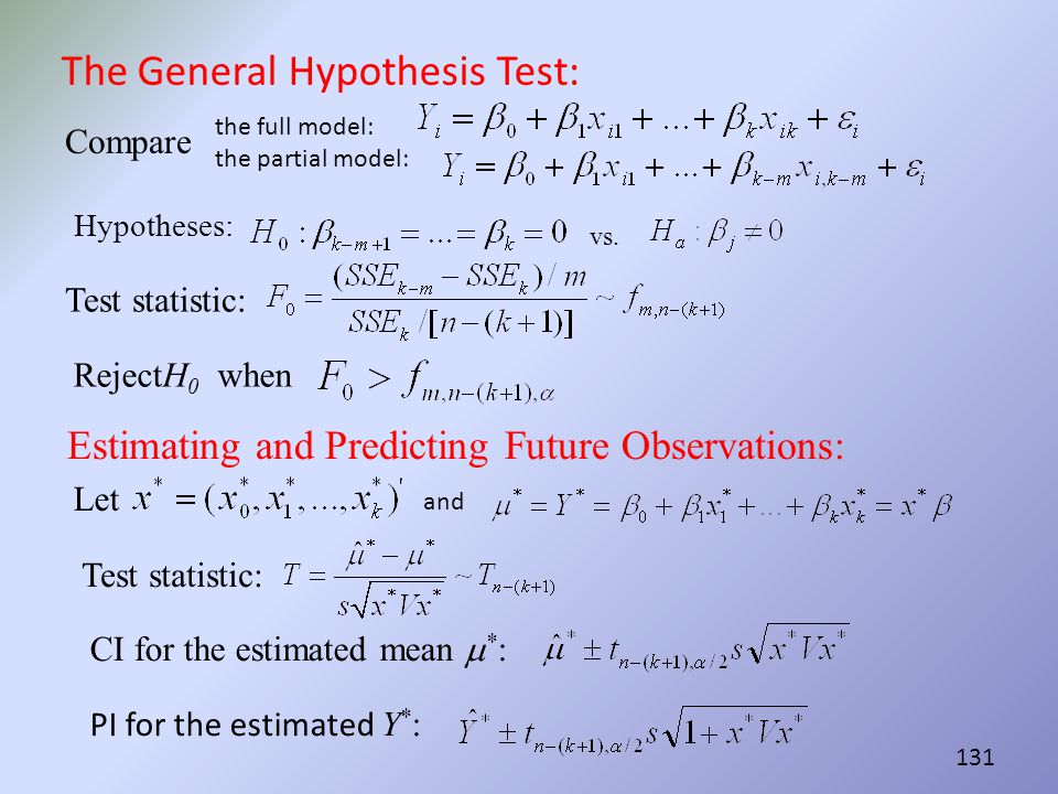 The General Hypothesis Test: