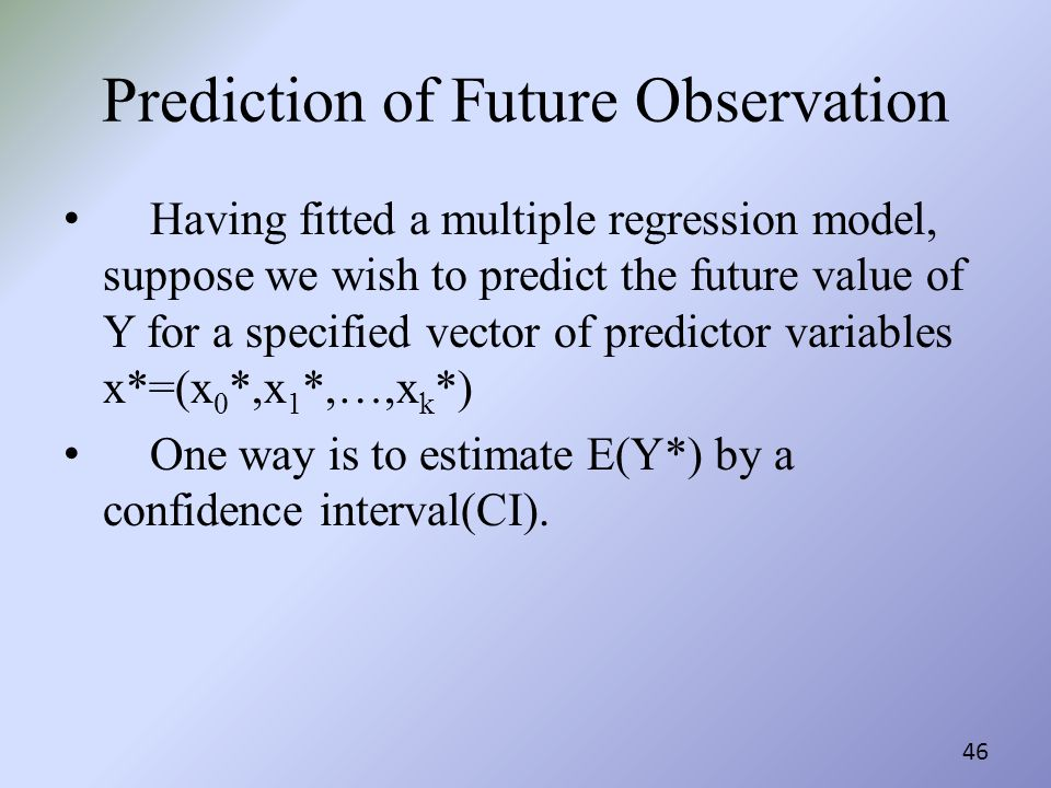 Prediction of Future Observation