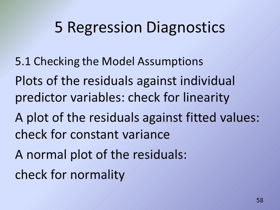 5 Regression Diagnostics