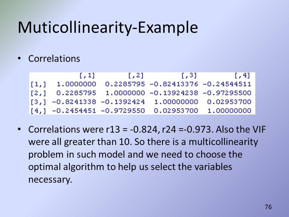 Muticollinearity-Example