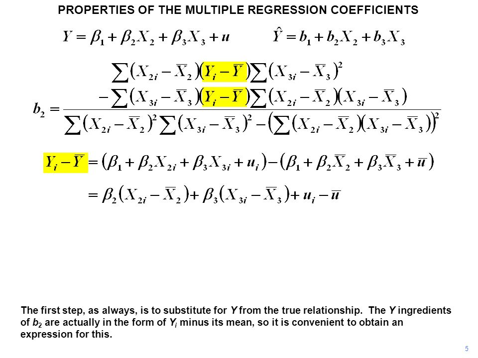 PROPERTIES OF THE MULTIPLE REGRESSION COEFFICIENTS