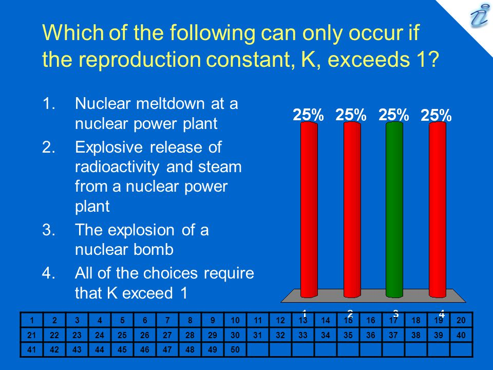 Which of the following can only occur if the reproduction constant, K, exceeds 1