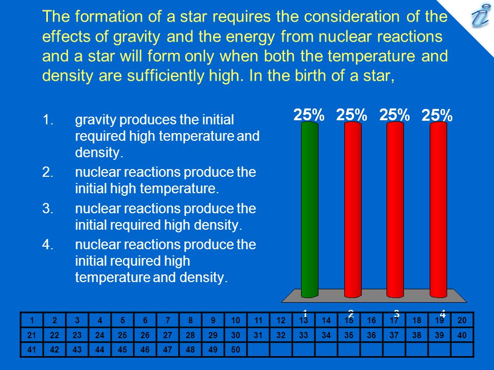 The formation of a star requires the consideration of the effects of gravity and the energy from nuclear reactions and a star will form only when both the temperature and density are sufficiently high. In the birth of a star,