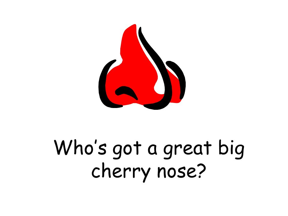 Who's got a great big cherry nose