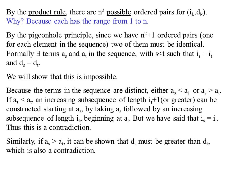 By the product rule, there are n2 possible ordered pairs for (ik,dk)