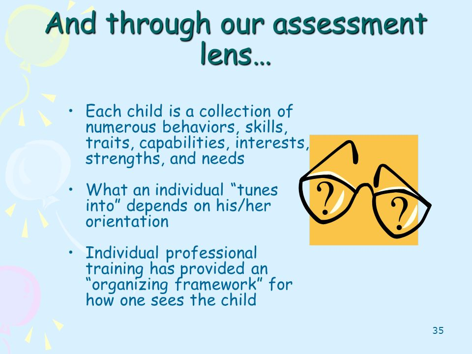 And through our assessment lens…