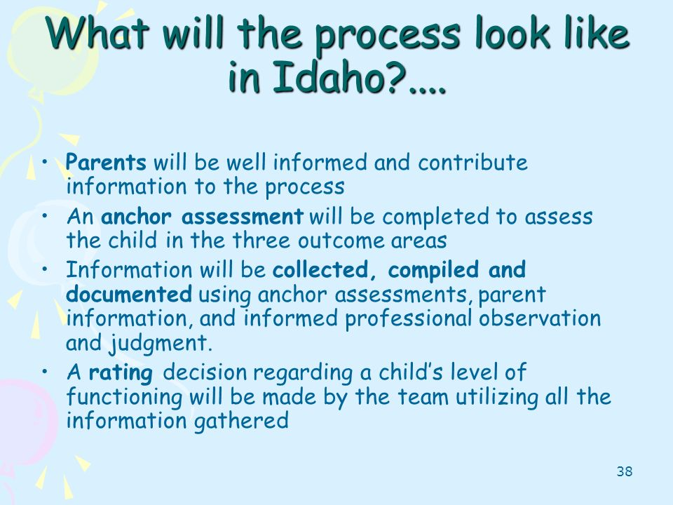 What will the process look like in Idaho ....