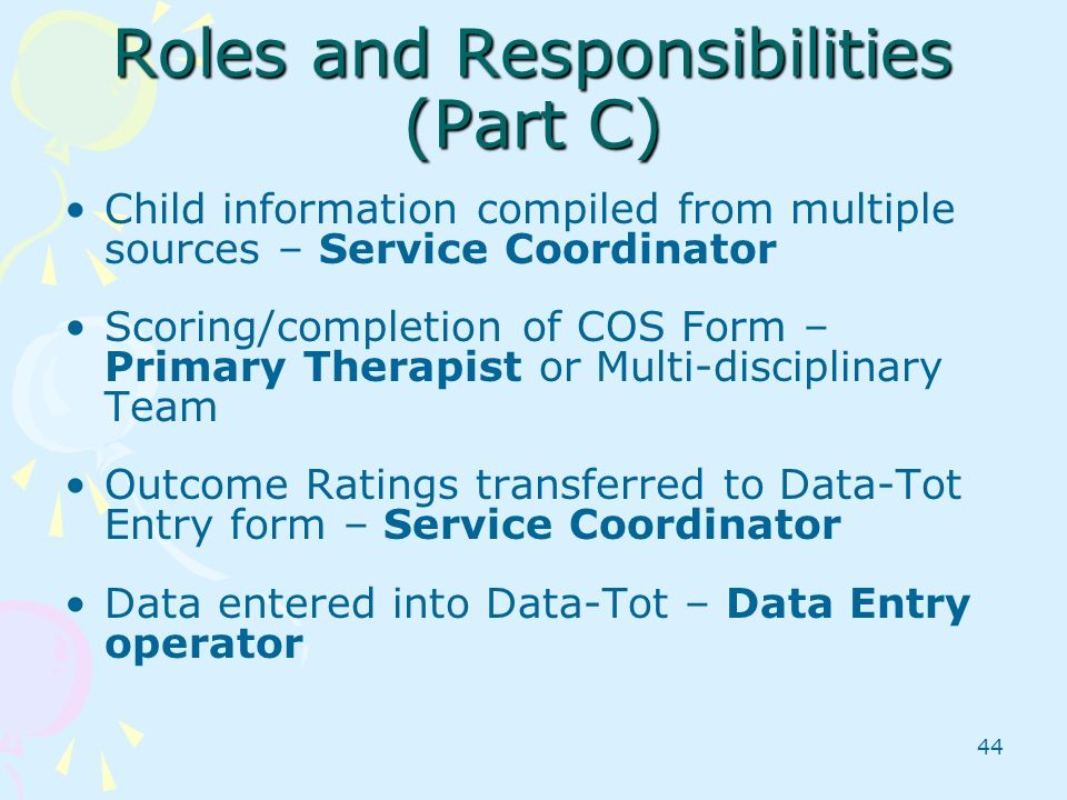 Roles and Responsibilities (Part C)