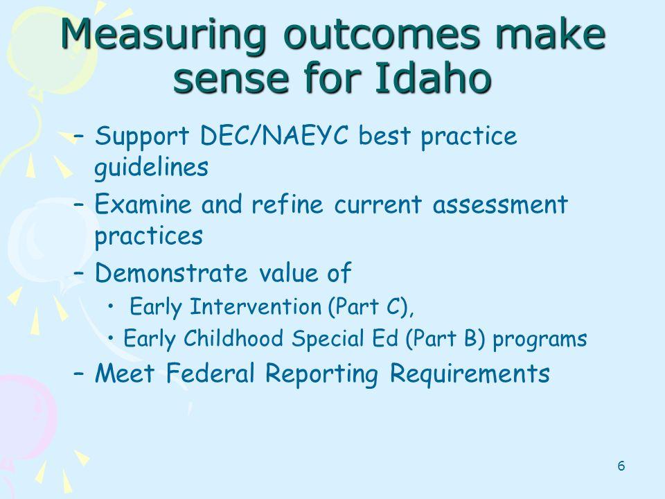 Measuring outcomes make sense for Idaho