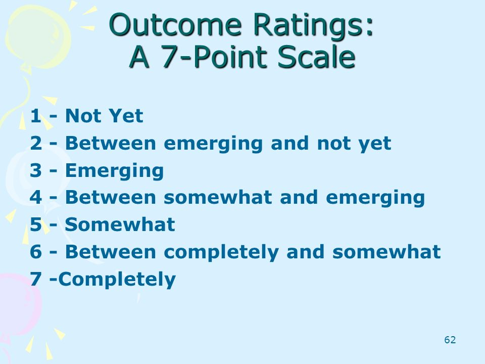 Outcome Ratings: A 7-Point Scale