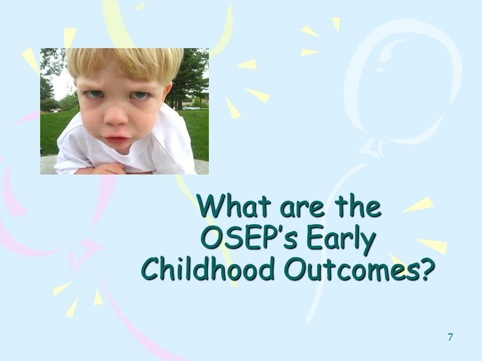 What are the OSEP's Early Childhood Outcomes