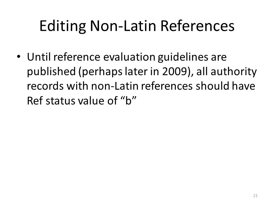 Editing Non-Latin References