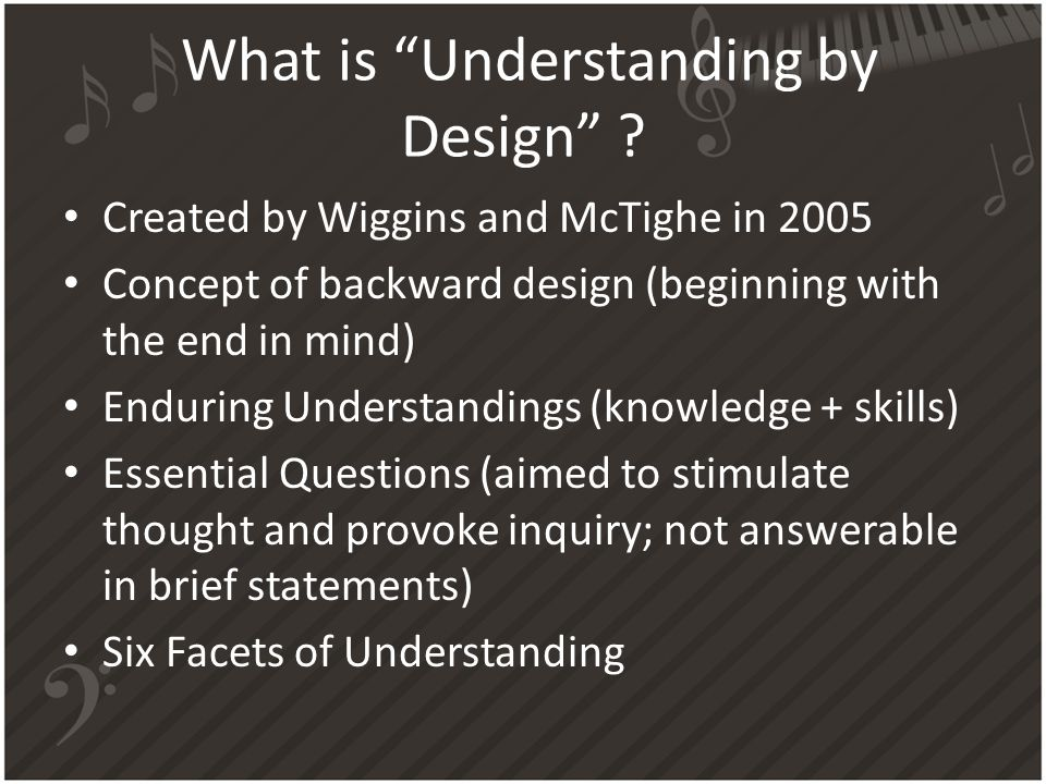What is Understanding by Design