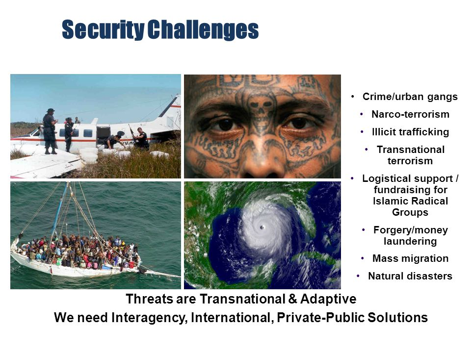 Security Challenges Threats are Transnational & Adaptive