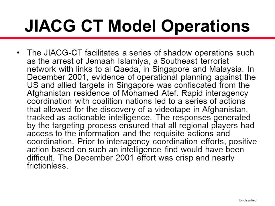 JIACG CT Model Operations