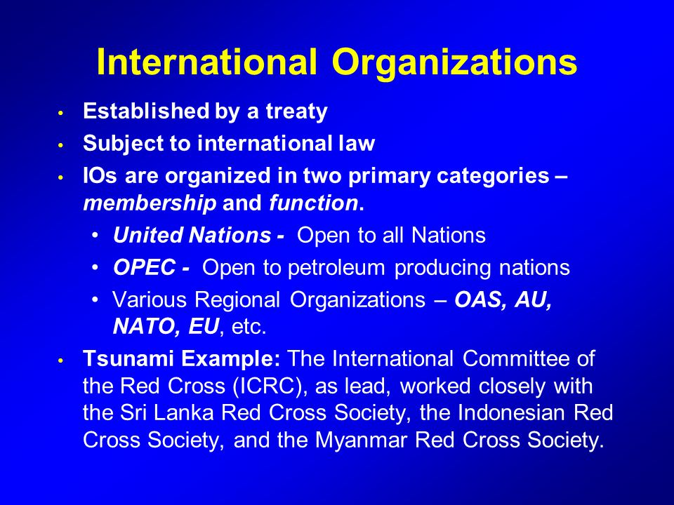 international organizations the united nations The united nations: international organization and world politics [lawrence ziring, robert e riggs, jack a plano] on amazoncom free shipping on qualifying offers.