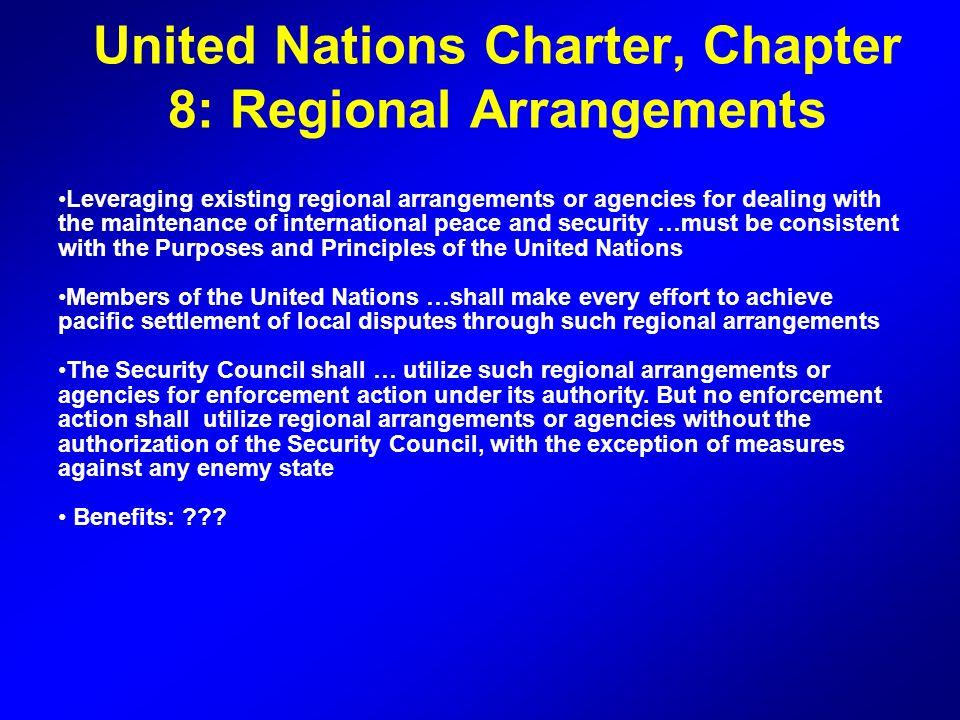 United Nations Charter, Chapter 8: Regional Arrangements
