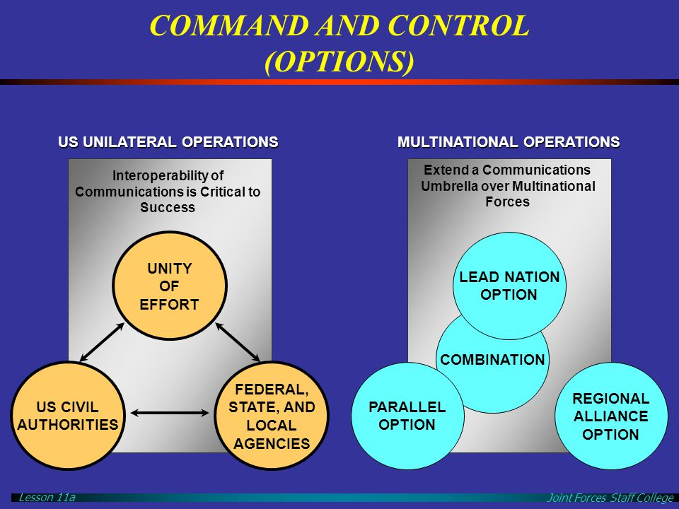 COMMAND AND CONTROL (OPTIONS)