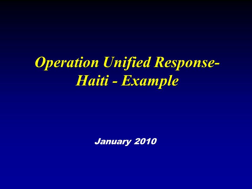 Operation Unified Response-Haiti - Example