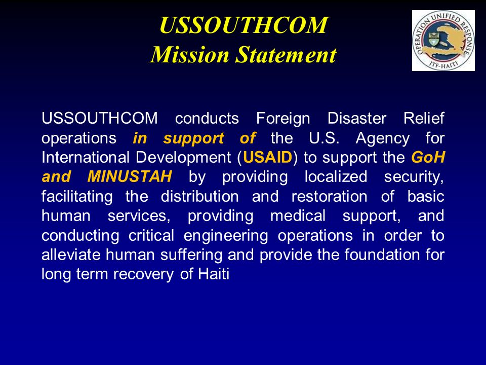 USSOUTHCOM Mission Statement
