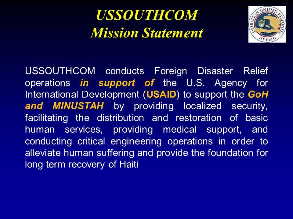 USSOUTHCOM Mission Statement