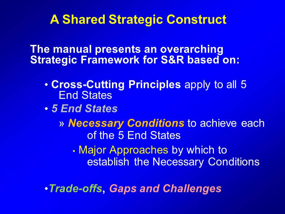 A Shared Strategic Construct