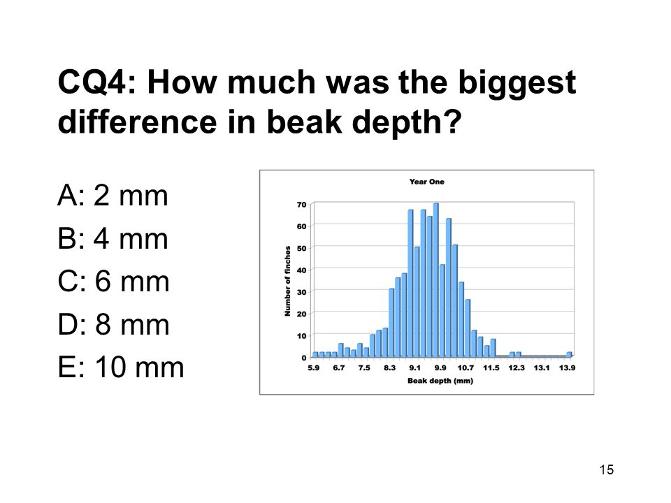 CQ4: How much was the biggest difference in beak depth