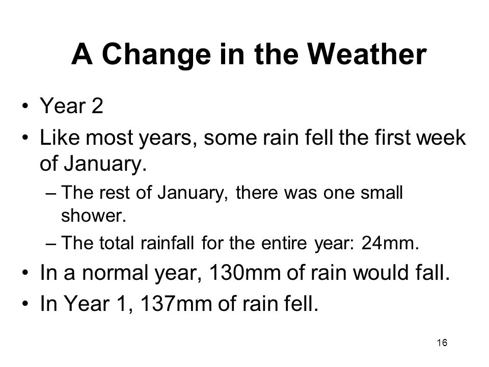 A Change in the Weather Year 2