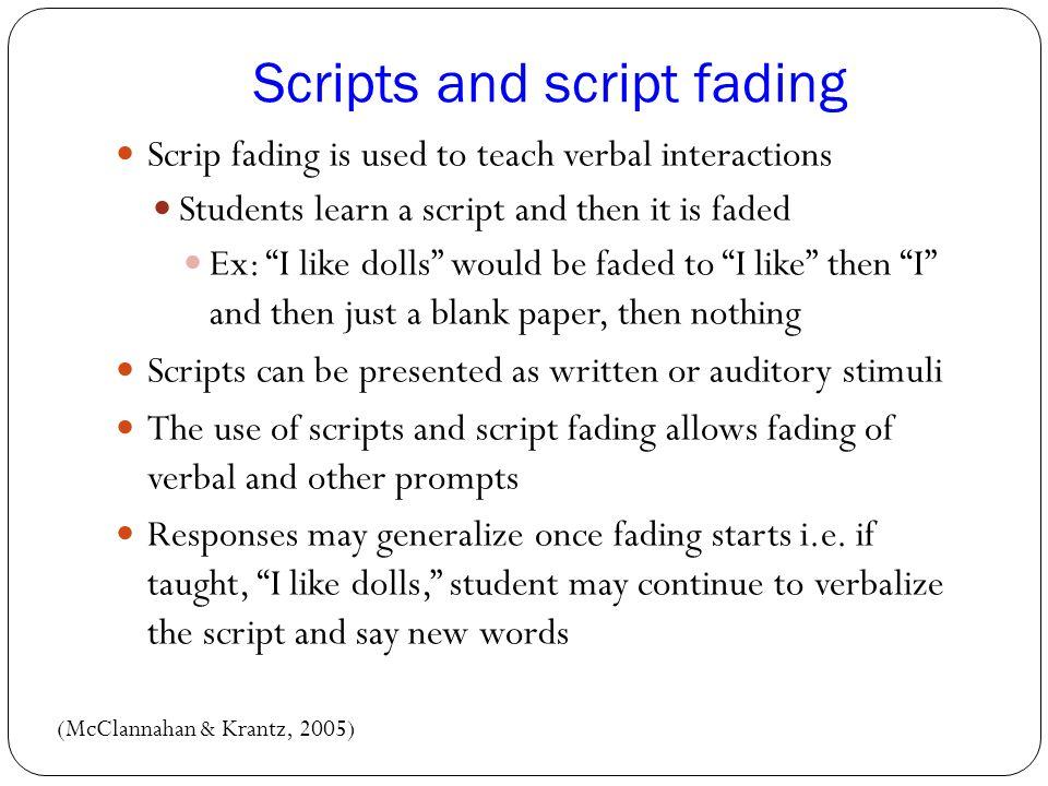 Scripts and script fading