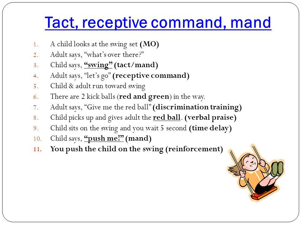 Tact, receptive command, mand