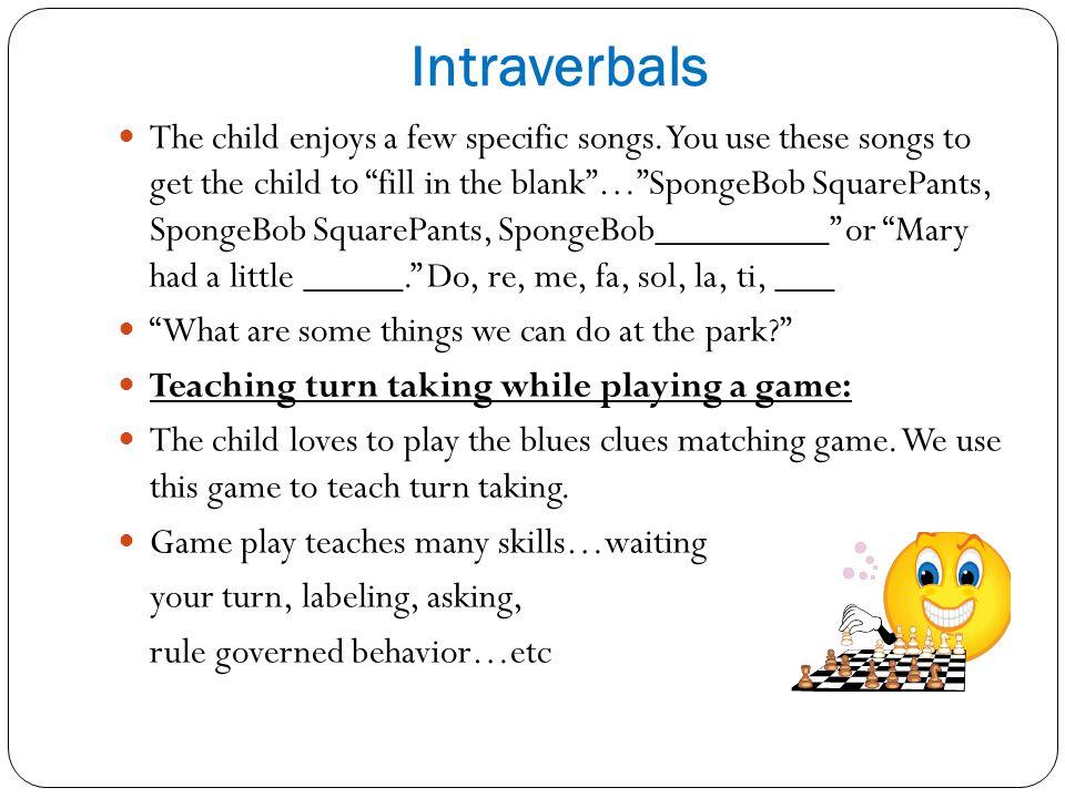 Intraverbals