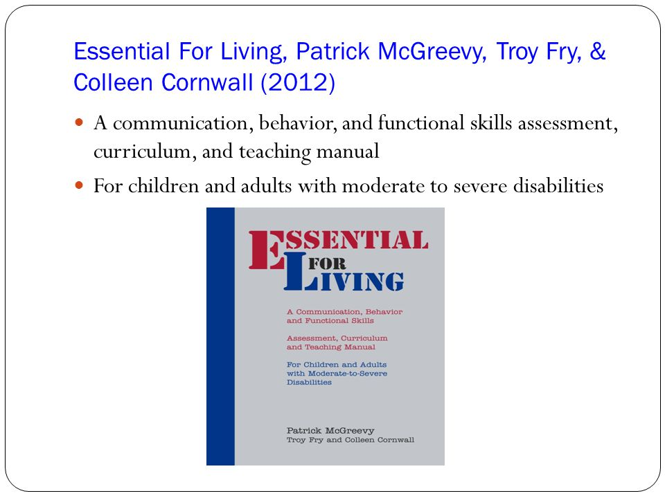 Essential For Living, Patrick McGreevy, Troy Fry, & Colleen Cornwall (2012)