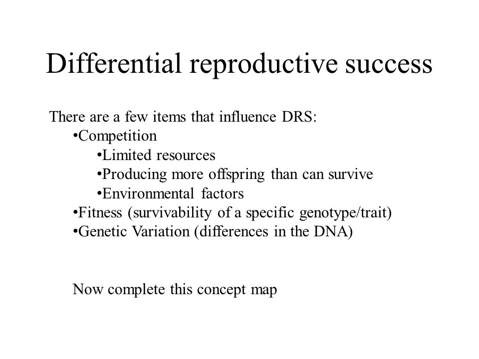 Differential reproductive success