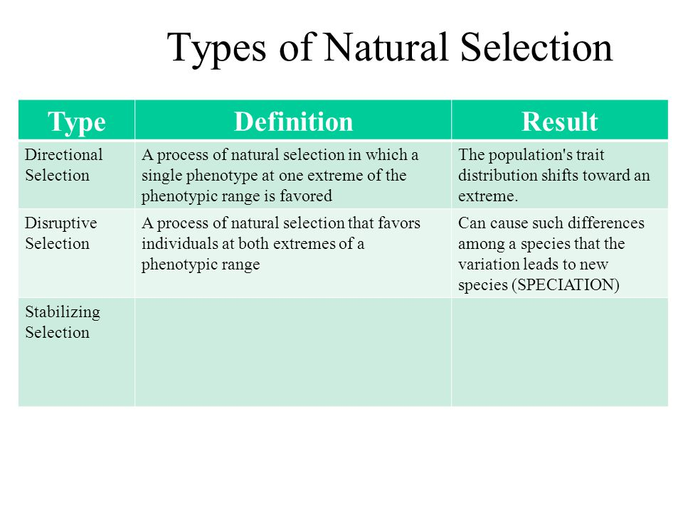 Natural Selection That Favors Both Extremes