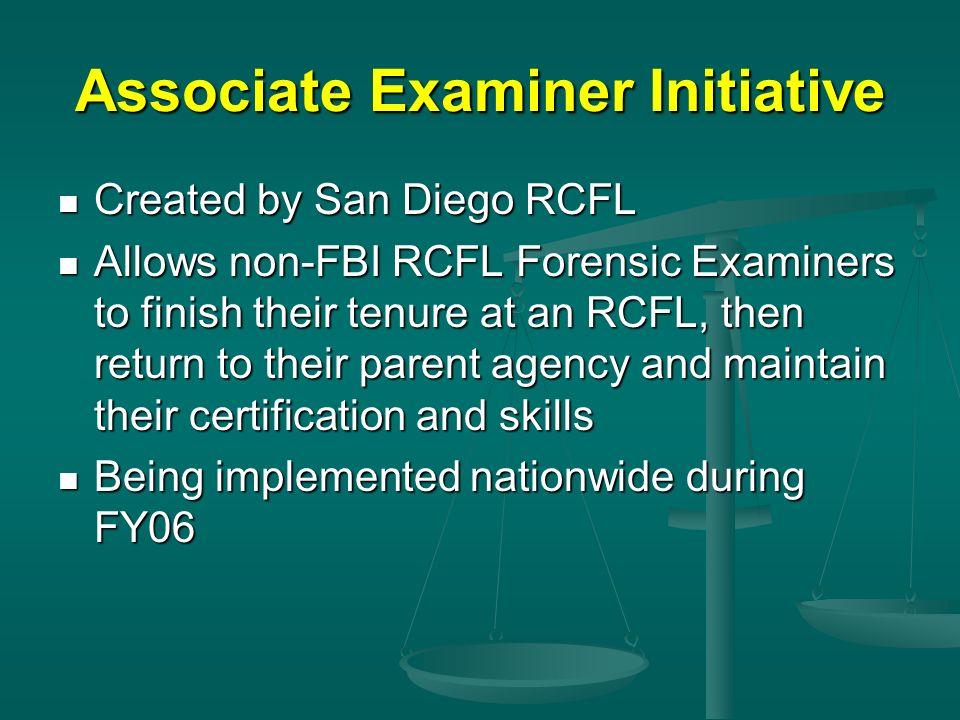 Associate Examiner Initiative