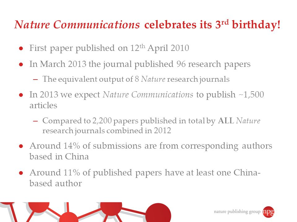 Nature Communications celebrates its 3rd birthday!