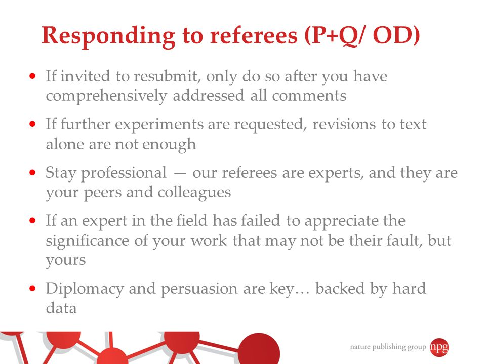 Responding to referees (P+Q/ OD)
