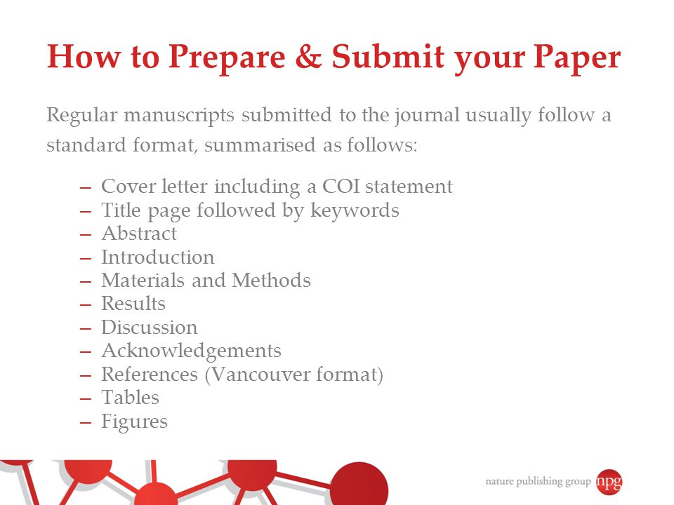 How to Prepare & Submit your Paper
