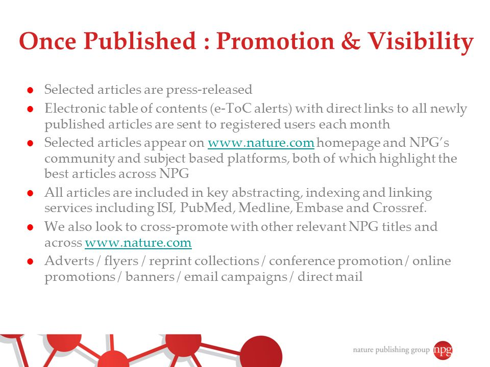 Once Published : Promotion & Visibility
