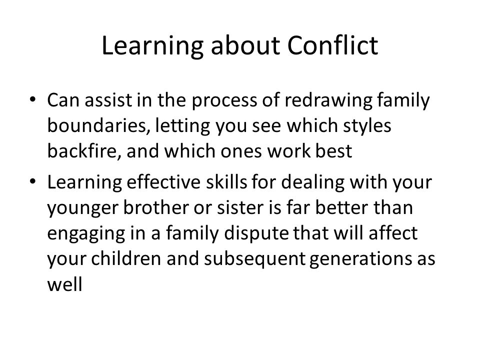 Learning about Conflict