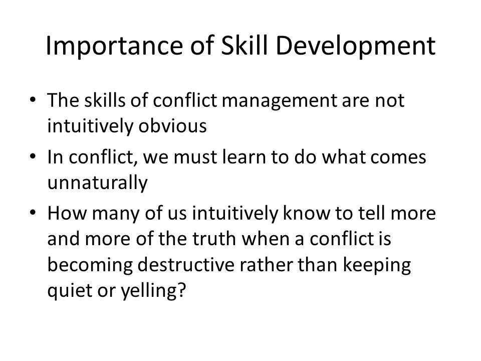 Importance of Skill Development