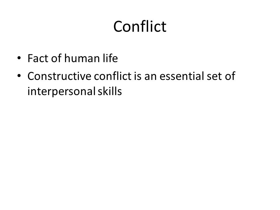 Conflict Fact of human life