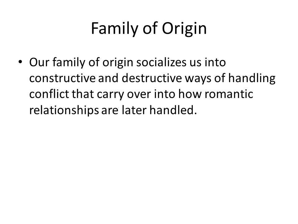 Family of Origin